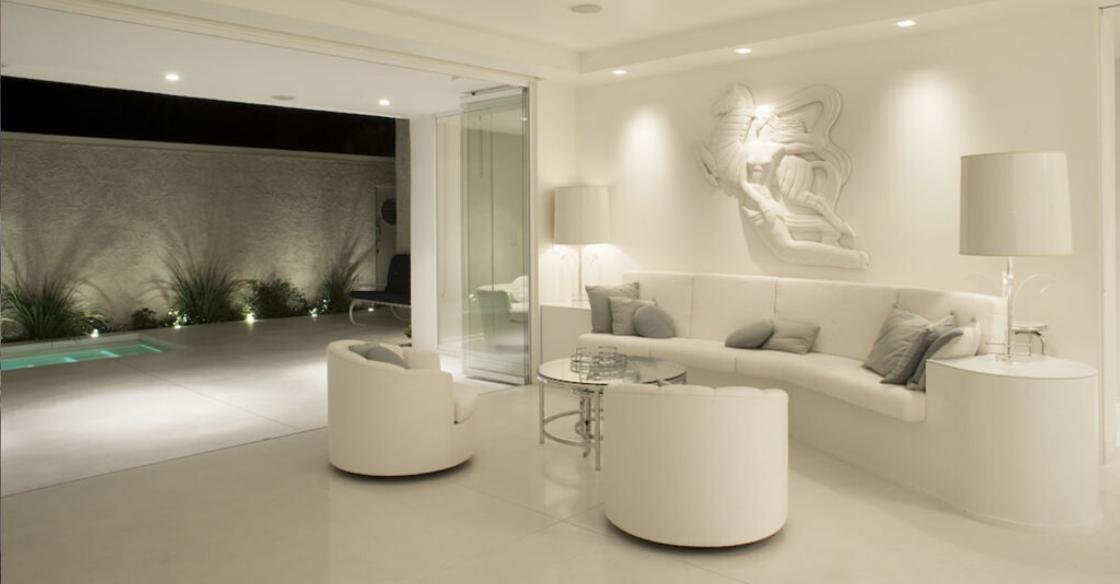 Neutral living room color palette