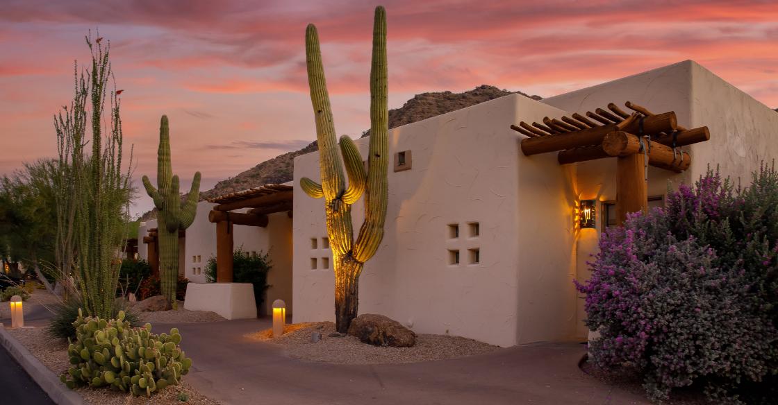 Spanish style house in Arizona