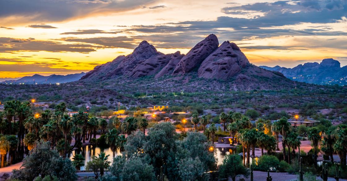 Sunset view in Arizona