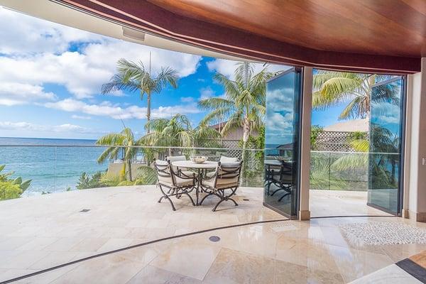 ocean view glass doors