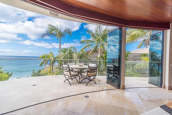 ocean view glass doors
