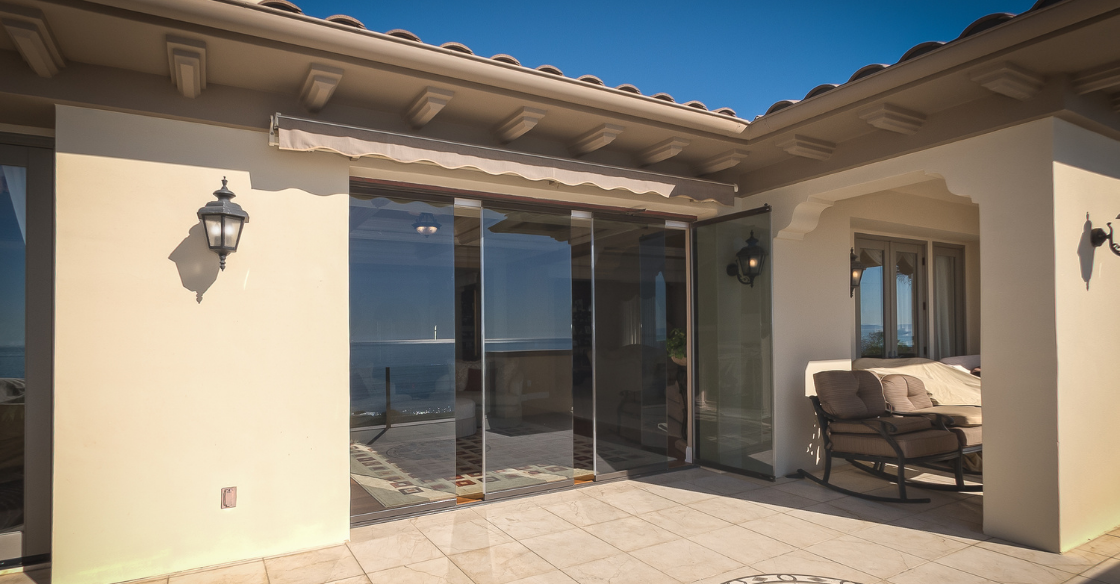 Cover glass patio doors with low-e glass