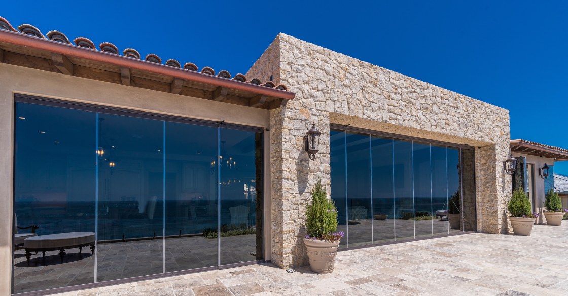 Home with Cover Glass Frameless glass doors