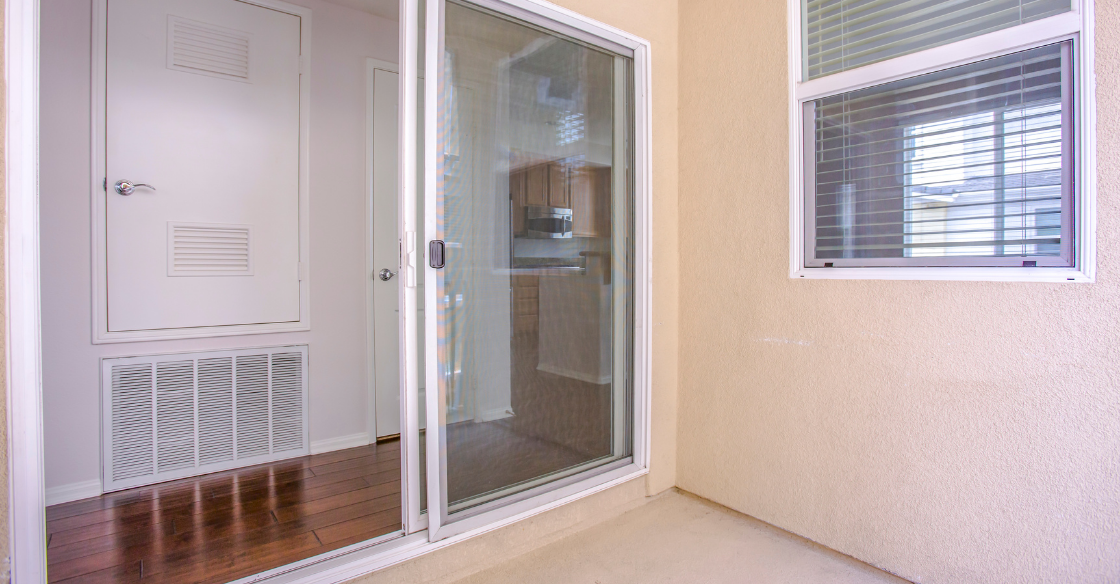 a sliding glass door that's hard to close