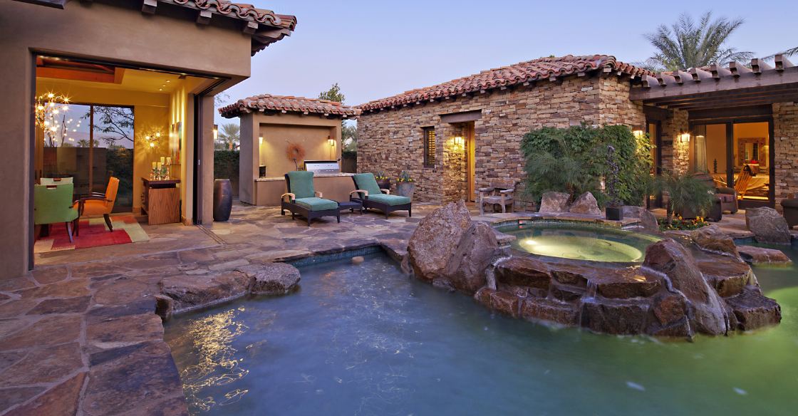 ADU next to a pool