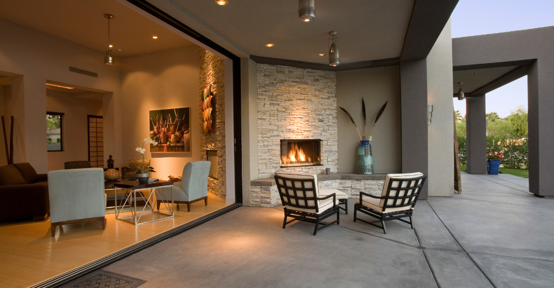 Cozy year-round outdoor space