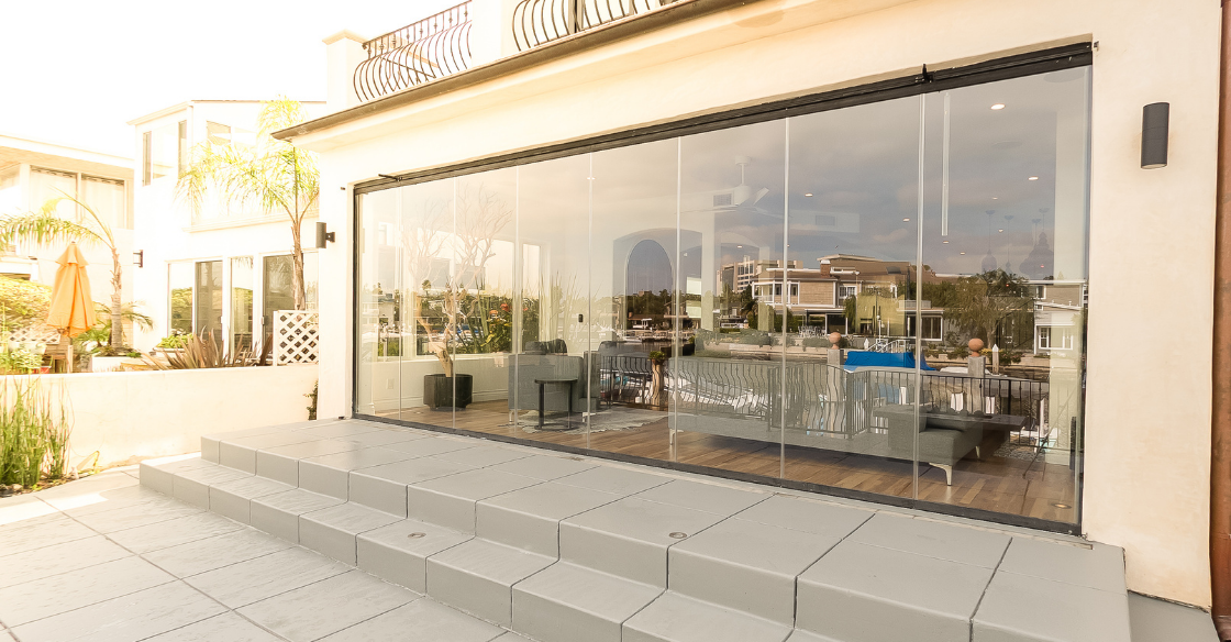 Energy efficient Cover Glass frameless doors