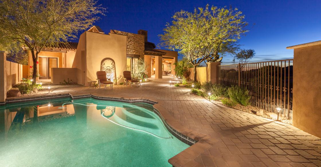 backyard swimming pool in Arizona
