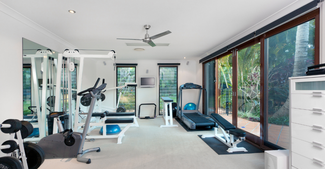 Home gym in an ADU
