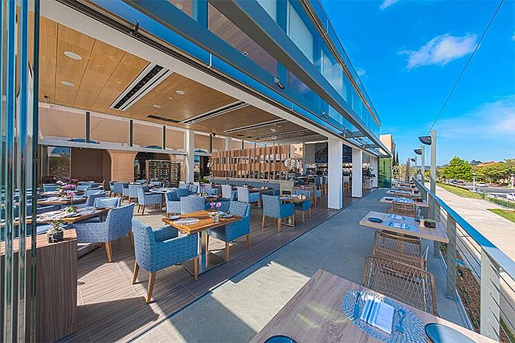 The Lot at Liberty Station in San Diego, CA | Frameless Sliding Glass Doors