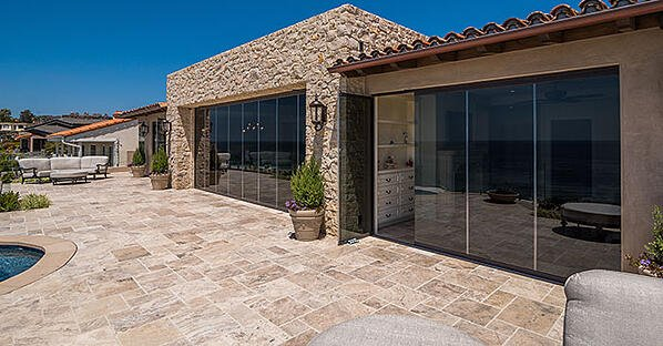 frameless sliding glass wall