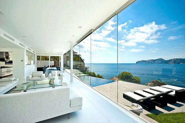 Luxury waterfront designer villa