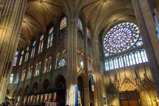 Record breaking windows, Cathedral window, Notre Dame de Paris