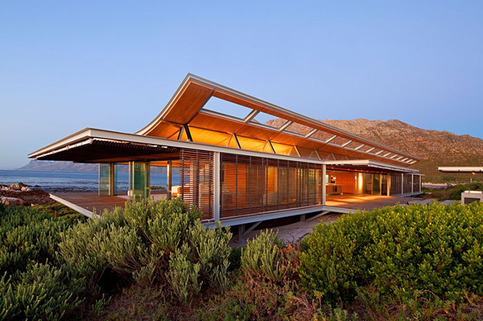 contemporary waterfront home