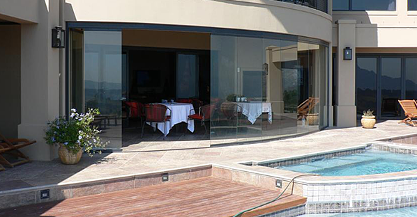 sliding glass doors pools