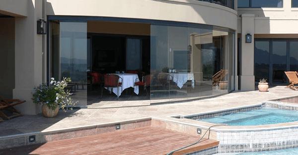 sliding glass doors pools