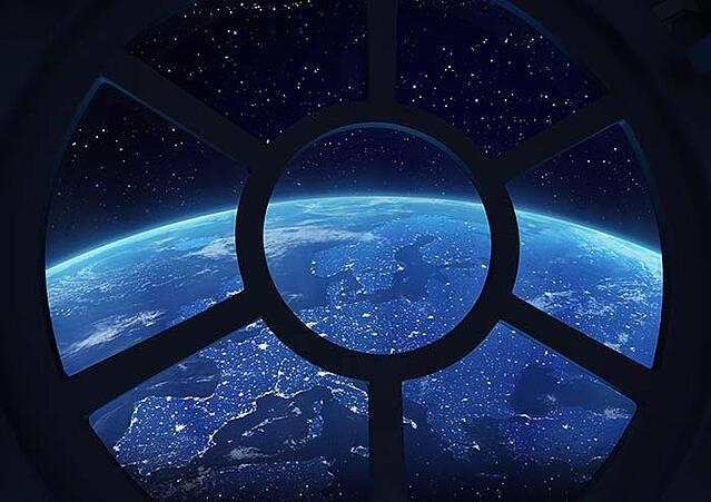 space station window
