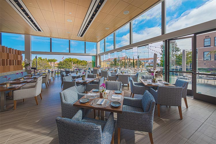 The Lot at Liberty Station in San Diego, CA   Cover Glass USA   Frameless Sliding Glass Doors