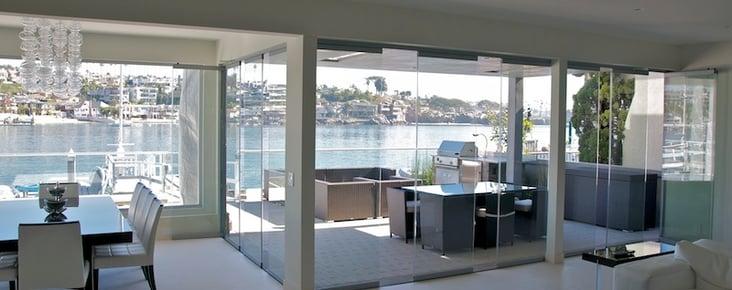 frameless glass wall system