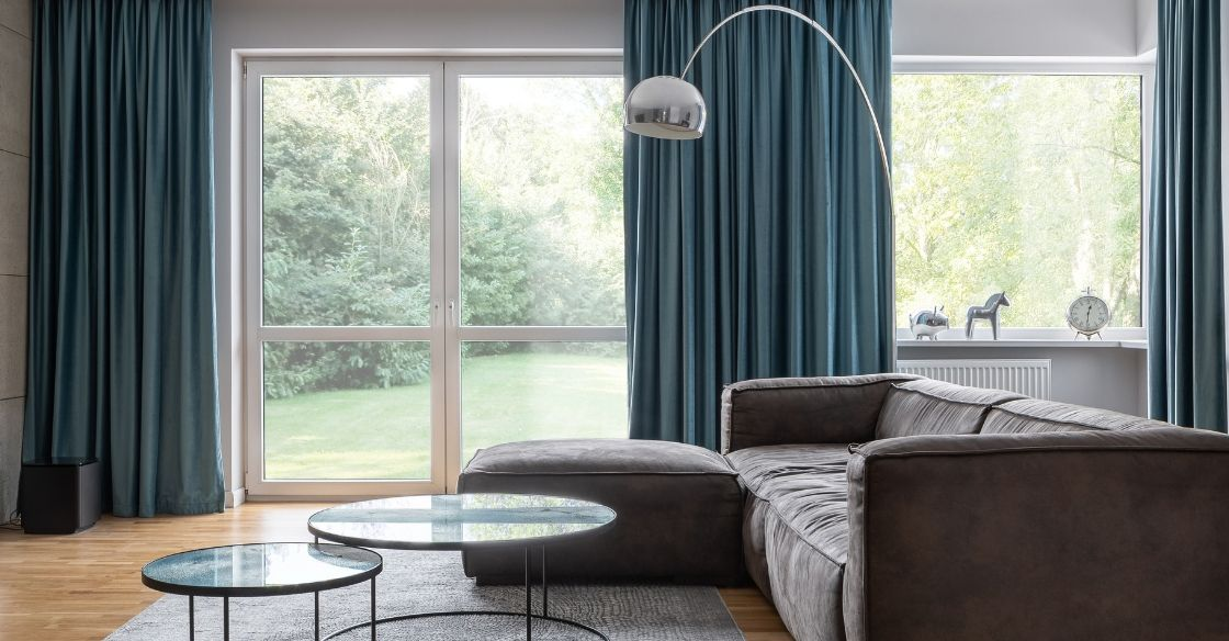 Blackout curtains can help reduce energy bills