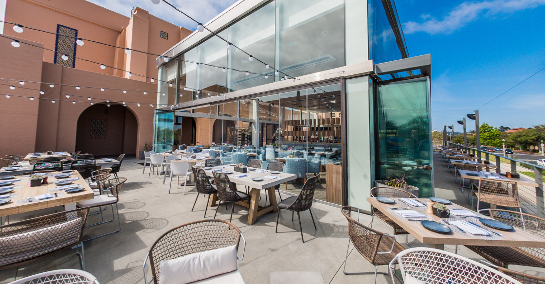 Outdoor dining at The Lot, San Diego, California