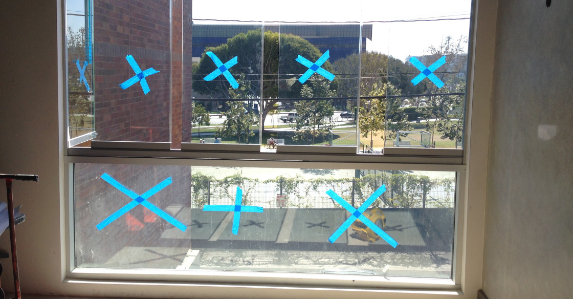 Cover Glass frameless windows being installed