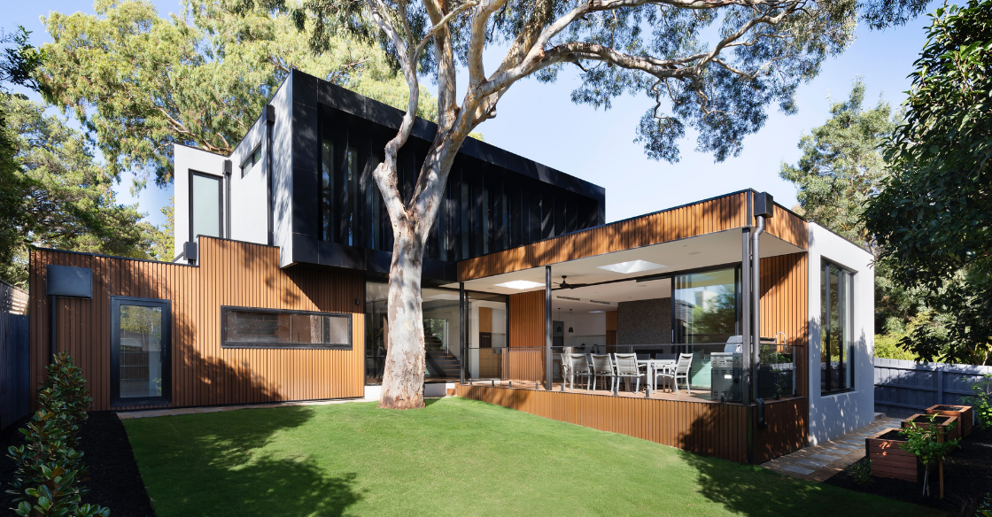 Modern house carefully designed with premium materials
