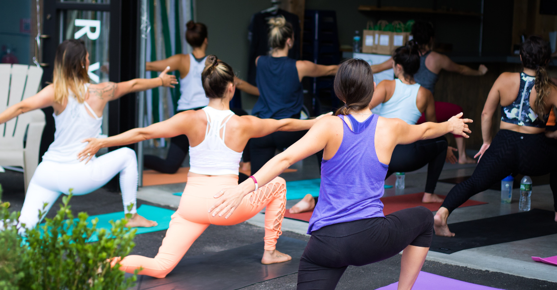 People doing yoga in Los Angeles