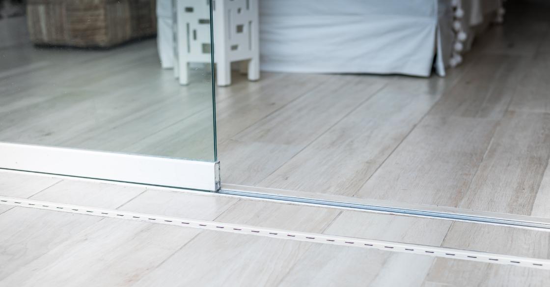 frameless glass door tracks