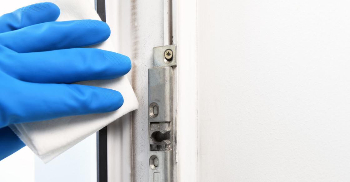 cleaning door hardware