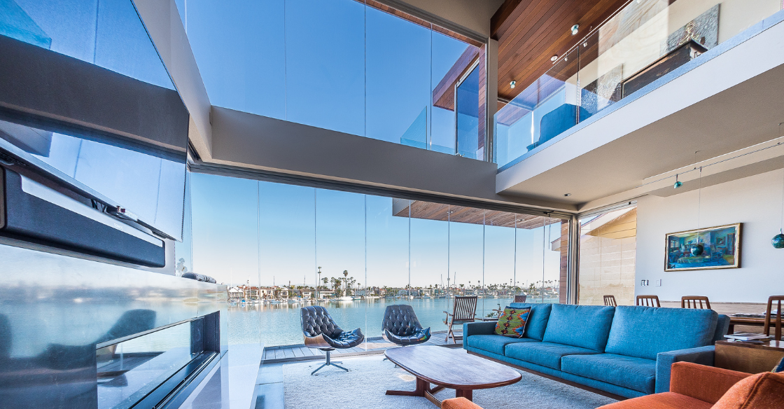 Cover Glass frameless doors and window accentuating modern architecture