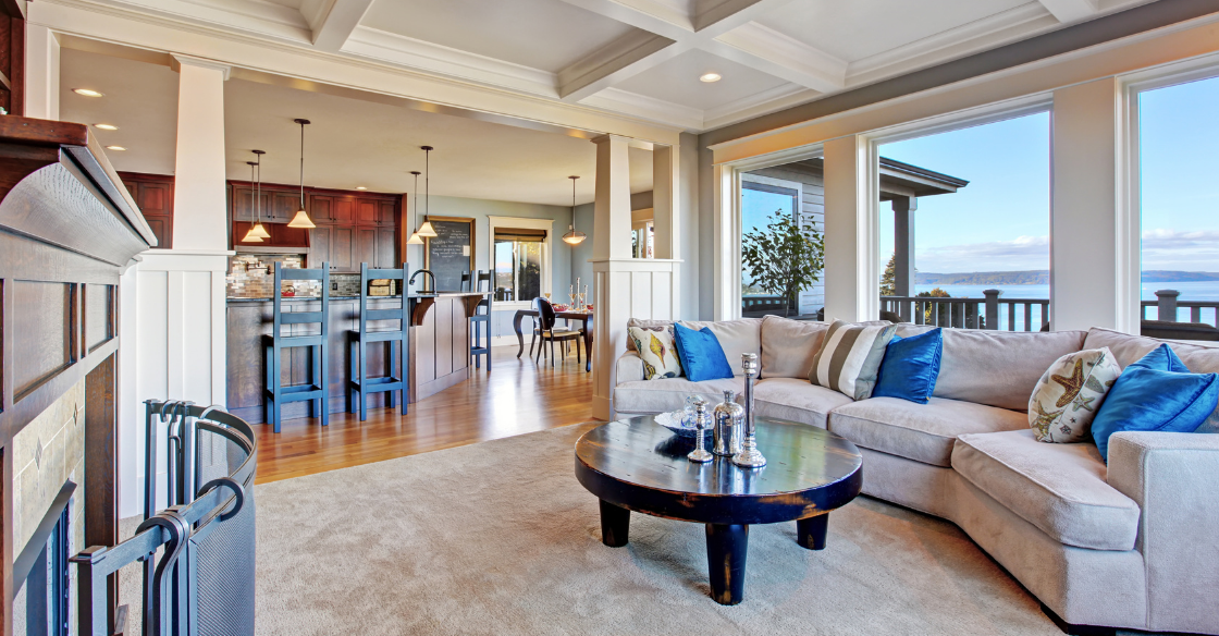 Home with an open concept living area