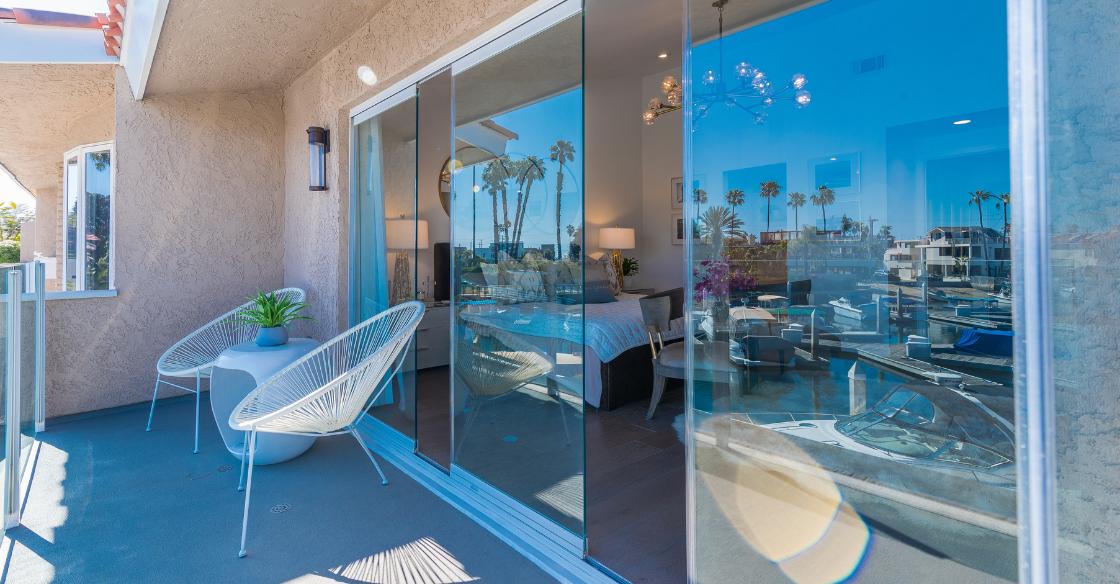 Coverglass frameless multi-slide patio doors