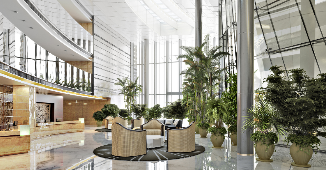 Welcoming Commercial Building Lobby